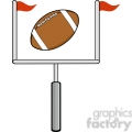 6565 Royalty Free Clip Art American Football Goal