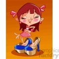 young female wearing adult heels  gif, png, jpg, eps, svg, pdf