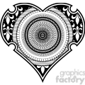 heart spirograph tattoo design vector illustration  gif, png, jpg, eps, svg, pdf
