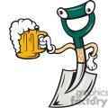shovel holding beer front