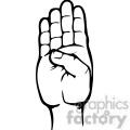 sign language letter b gif, png, jpg, eps, svg, pdf
