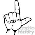 sign language letter I
