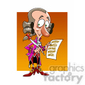 wolfgang amadeus mozart cartoon caricature
