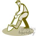 gardener shoveling iso shape  gif, png, jpg, eps, svg, pdf