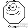 geometry octagon cartoon face math clip art graphics images