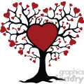 tree of life and love red hearts