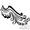 vinyl ready vector wing tattoo design 087