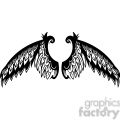 vinyl ready vector wing tattoo design 046