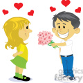 boy and girl dating cartoon vector