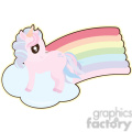 cartoon Unicorn2 illustration clip art image