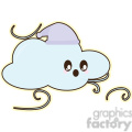 cartoon Winter Cloud illustration clip art image