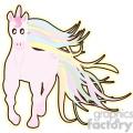 cartoon Unicorn illustration clip art image