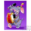 image of an elephant band member elefante tocando bombo