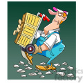 moving guy carrying a dolly over rocks cargador  gif, png, jpg, eps, svg, pdf