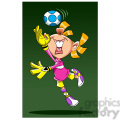 image of girl playing soccer portera de futbol