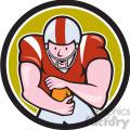 american football running back front OL CIRC