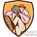 pitcher throw leg up crest  gif, png, jpg, eps, svg, pdf