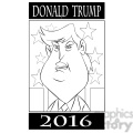 donald trump 2016 election for president black and white  gif, png, jpg, eps, svg, pdf