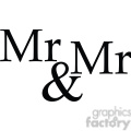 mr and mr vector word art