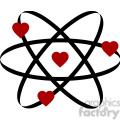 atom of love vector clip art image