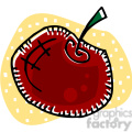 red apple vector clip art image