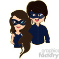 masquerade couple cartoon character vector image  gif, png, jpg, eps, svg, pdf