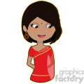 Indian Bride cartoon character vector image