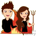 Devil Pair toxic relationship cartoon character vector image