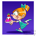 girl running with her plate of jello  gif, png, jpg, eps, svg, pdf
