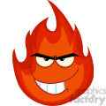 Royalty Free RF Clipart Illustration Angry Evil Fire Cartoon Mascot Character