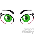 Royalty Free RF Clipart Illustration Cartoon Women Green Eyes