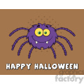 8952 Royalty Free RF Clipart Illustration Funny Spider Cartoon Character Vector Illustration With Background And Text vector clip art image