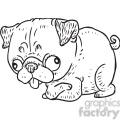 silly pug vector RF clip art images