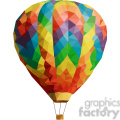Hot Air Balloon geometry geometric polygon vector graphics RF clip art images