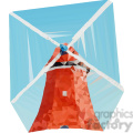 Windmill geometry geometric polygon vector graphics RF clip art images