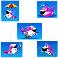 skyler the airplane cartoon character clip art image set