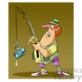 stan the cartoon fishing character catching a can of tuna  gif, png, jpg, eps, svg, pdf