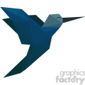 hummingbird polygon animal art