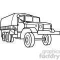 military armored transport vehicle outline