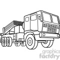 military armored mobile missle strick vehicle outline