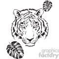 tiger head black and white  gif, png, jpg, eps, svg, pdf