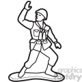 black white toy army soldier illustration graphic