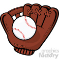 royalty free rf clipart illustration baseball glove and ball vector illustration isolated on white background