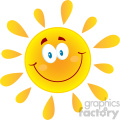 9691 royalty free rf clipart illustration happy sun cartoon mascot character vector illustration isolated on white background gif, png, jpg, eps, svg, pdf