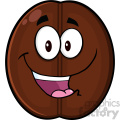 illustration happy coffee bean cartoon mascot character vector illustration isolated on white  gif, png, jpg, eps, svg, pdf