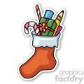 christmas stocking v2 sticker  gif, png, jpg, eps, svg, pdf