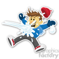 snowball fight sticker