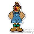 turkey sticker  gif, png, jpg, eps, svg, pdf
