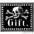 skull poison gift vintage 1900 vector art GF