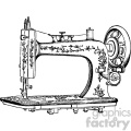 vintage sewing machine vector vintage 1900 vector art GF